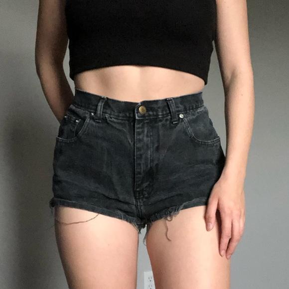 Black Guess Jean Shorts